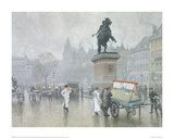 Hojbro Square in Copenhagen Giclee Print by Paul Fischer