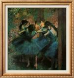 Dancers in Blue Print by Edgar Degas