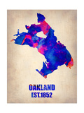 Oakland Watercolor Map Prints by  NaxArt