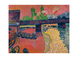Charing Cross Bridge, London, 1906 Gicléetryck av Andre Derain