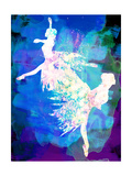 Ballet Watercolor 2 Print by Irina March