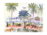 View of Le Suquet, Cannes Giclee Print by Raoul Dufy