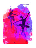 Two Dancing Ballerinas Print by Irina March