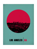 Los Angeles Circle Poster 1 Prints by  NaxArt