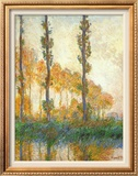 Three Trees In Autumn Print by Claude Monet