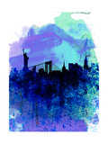New York Watercolor Skyline 2 Prints by  NaxArt