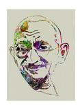 Gandhi Watercolor Poster af Anna Malkin