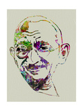 Gandhi Watercolor Poster by Anna Malkin