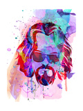 Dude Watercolor Premium Giclee Print by Anna Malkin