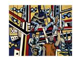 Construction Workers, 1951 Giclée-tryk af Fernand Leger