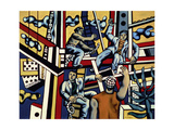 Construction Workers, 1951 Gicléetryck av Fernand Leger