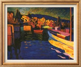 Autumn Landscapes with Boats Art by Wassily Kandinsky