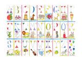 Alfabeto Impressão giclée por Milly Green