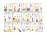 Alphabet Giclee Print by Milly Green