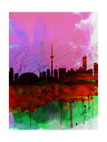 Toronto Watercolor Skyline Print by  NaxArt