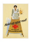 Hold Up Your End! War Fund Week - One Hundred Million Dollars Poster Giclee Print by W.b. King