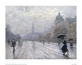 A Street Scene Giclee Print by Paul Fischer