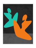 Orange and Blue Girls Prints by Felix Podgurski