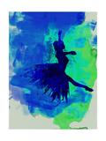 Ballerina on Stage Watercolor 5 Kunstdrucke von Irina March