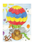 Hot Air Balloon Giclee Print by Milly Green