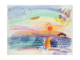 Sunset Giclee Print by Raoul Dufy