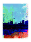 Vienna Watercolor Skyline Posters by  NaxArt