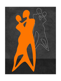 Orange Couple Dancing Posters by Felix Podgurski