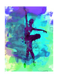 Ballerina Watercolor 4 Premium giclée print van Irina March