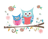 Hello Owls Giclee Print by Kim Anderson