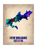 New Orleans Watercolor Map Prints by  NaxArt