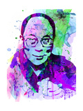 Dalai Lama Watercolor Posters by Anna Malkin