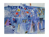 The Regatta at Cowes Giclee Print by Raoul Dufy
