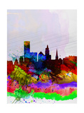 Providence Watercolor Skyline Posters by  NaxArt