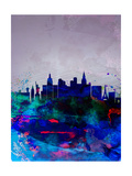 Las Vegas Watercolor Skyline Prints by  NaxArt
