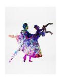 Ballet Dancers Watercolor 1 Kunst van Irina March