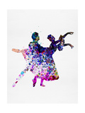 Ballet Dancers Watercolor 1 Poster by Irina March