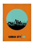 Kansas City Circle Poster 1 Prints by  NaxArt
