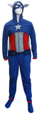 Captain America - Union Suit Adult Onesie Tシャツ