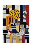 Still Life with Candlestick, 1922 Giclée-trykk av Fernand Leger