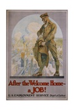 After the Welcome Home - a Job! Poster Giclee Print by Edmund M. Ashe