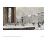 Figures entering the Law Courts, Nytorv Copenhagen Giclee Print by Paul Fischer