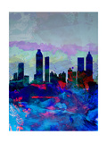 Atlanta Watercolor Skyline Print by  NaxArt