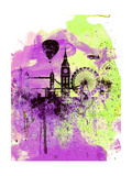 London Watercolor Skyline 1 Posters by  NaxArt