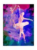 Two Dancing Ballerinas Watercolor 1 Kunstdrucke von Irina March