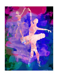 Two Dancing Ballerinas Watercolor 1 Prints by Irina March