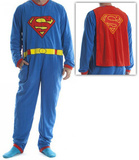 Superman - Union Suit Adult Onesie with Cape Shirts
