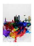San Francisco Watercolor Skyline 1 Poster par  NaxArt