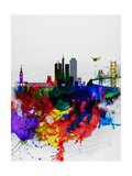 San Francisco Watercolor Skyline 1 Poster by  NaxArt
