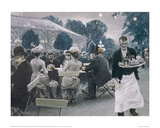 An Evening in the Tivoli Gardens in Copenhagen Giclee Print by Paul Fischer