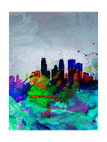 Minneapolis Watercolor Skyline Prints by  NaxArt